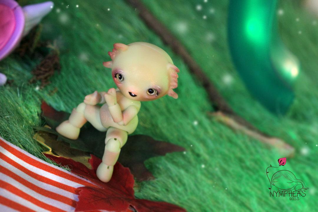 Titpousse Soft Green Glow In Dark - Nympheas Dolls Bjd-7085