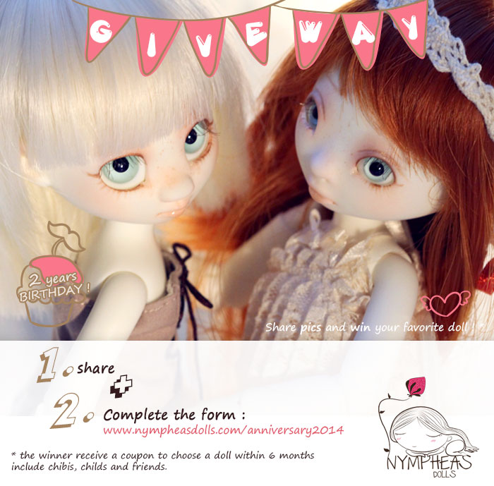 Nymphes concour2014 Nympheas Dolls 2014 Anniversary ! non classe     Nympheasdolls
